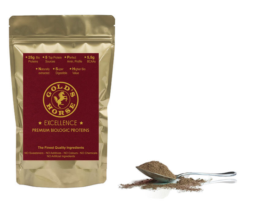 Gold's Horse Excellence - Premium Bio Organic Proteins - - Luxury plant based protein powder - Luxury vegan protein powder - Premium plant based protein powder - High quality plant based protein powder - Top quality plant based protein powder